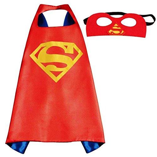 3-6 years Kids Cape & Mask Superhero (Captain America, Superman, Wonder Woman) Halloween Costumes -