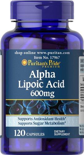 Puritans Pride Alpha Lipoic Acid 600 Mg, 120 Count - Puritan Japan