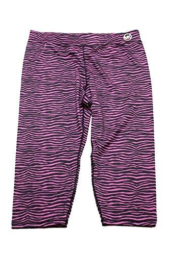Michael Kors Michael Women's Zebra-Print Cropped Leggings, Plum Blossom (X-Large) - Michael Kors Zebra