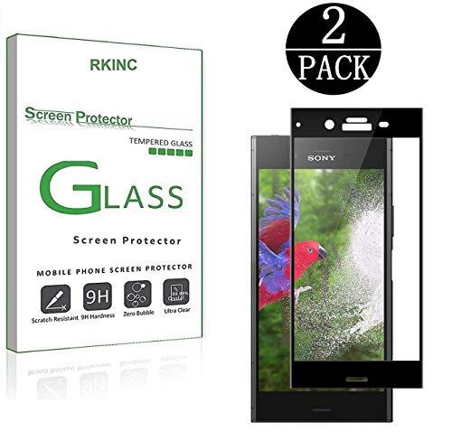 座標リベラルバンドルSony Xperia XZ1 [2 Pack] 3Dフルカバー【強化ガラス】RKINC 液晶保護フィルム 【9H硬度】 0.26mm 防指紋 気泡レス 耐衝撃 飛散防止 2.5D ラウンドエッジ加工 ドイツSCHOTTガラス素材 スクリーンプロテクター (ブラック) (2枚セット)