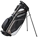 Izzo Lite Stand Golf Bag – Black, Red, Green or Blue – Walking Golf Bag, Ultra Light Perfect for Carrying on The Golf Course, with Dual Straps for Easy to Carry Golf Bag.