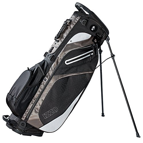IZZO Lite Stand Golf Bag – Black, Pink, Green or Blue – lite carry golf bag, walking golf bag, ultra light perfect for carrying on the golf course, with dual straps for easy to carry golf bag. – DiZiSports Store