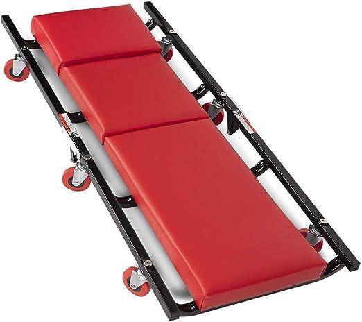 Carrito cama bajo coche con funci/ón taburete para mec/ánico taller