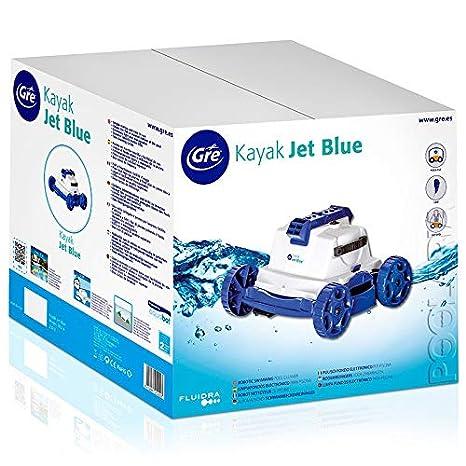 Gre RKJ14 Kayak Jet Blue - Robot Eléctrico Limpiafondos de Piscina, 18.000 l/h: Amazon.es: Jardín
