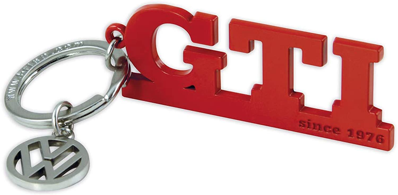 Brisa Vw Collection Volkswagen Gti Schlüssel Anhänger Mit Vw Charm Geschenk Idee Fan Souvenir Retro Vintage Artikel Rot Bekleidung