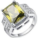 Size 7-10 Gemstone Sapphire 18K Gold Filled Ring Fashion Wedding Jewelry Gift ERAWAN (8 #)