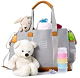 Best Designer Tote Style Baby Diaper Bags - Diaper Bag for Girls and Boys - Large Review