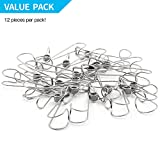 TSJ 12 Pack Laundry Hooks Clothes Pins Hanging