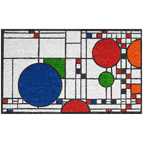 Frank Lloyd Wright Coonley Playhouse Doormat - Decorative Coir Welcome...