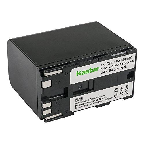 Kastar Battery for Canon BP-970G BP-945 C2 DM-MV1 MV10 DM-MV20 E1 E2 E30 E65AS EOS C100 EOS C100 Mark II EOS C300 EOS C300 PL EOS C500 EOS C500 PL ES50 ES55 ES60 ES65 ES75 XL-1 1S XL-2 XM1 XM2 XV1 XV2