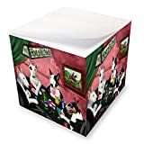 Home of Bull Terriers 4 Dogs Playing Poker Note Cube