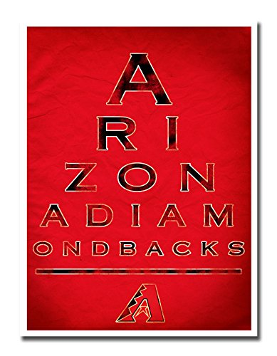 Atlas Arizona Diamondbacks EYE 12x16 Poster Print Wall Art Décor