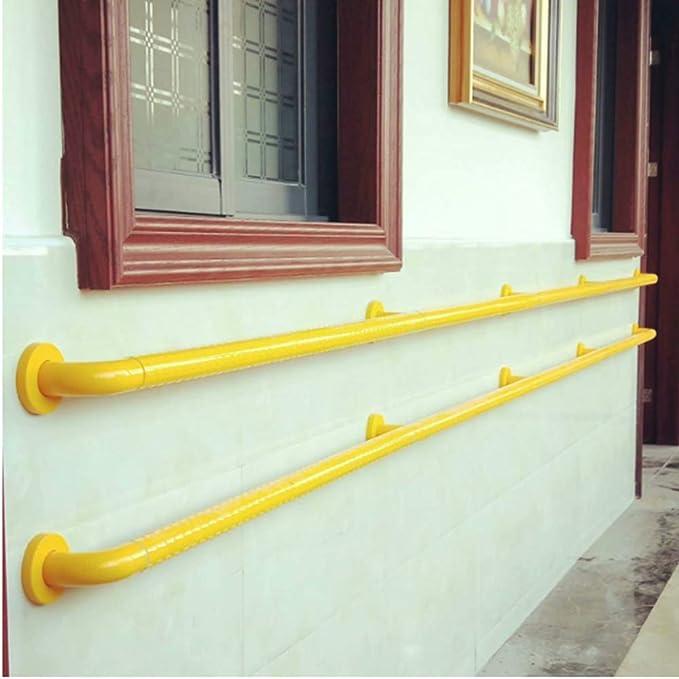 Barandilla de seguridad para escalera, 1 m, de nailon no sedoso, para montar en la pared, para discapacitados, ancianos, sin barreras, color amarillo: Amazon.es: Bricolaje y herramientas