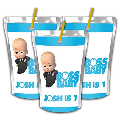 12 Personalized Boss Baby Party Juice Pouch Label | Boss Baby Party Supplies | Boss Baby Birthday Party | Custom Juice Pouch Label | Capri Sun Labels | Party -