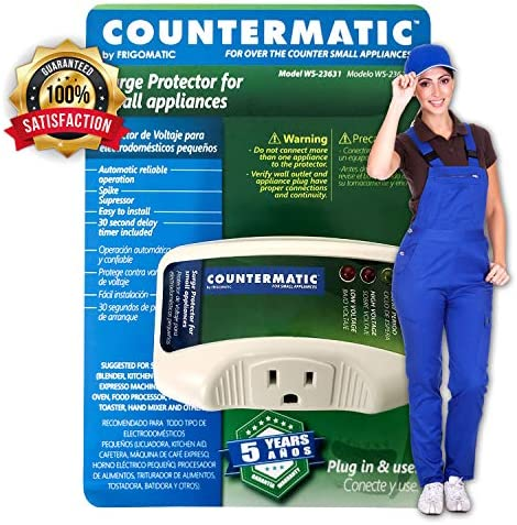 Countermatic WS-23631 Electronic Surge Protector for Small Kitchen Appliances