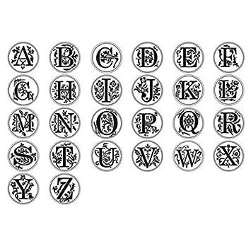 Cikuso Ceralacca Classic iniziale sigillo timbro di cera alfabeto Retro Legno lettera E