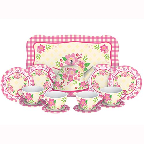 Schylling Childrens Tea Set - Schylling Fancy Tin Tea Set