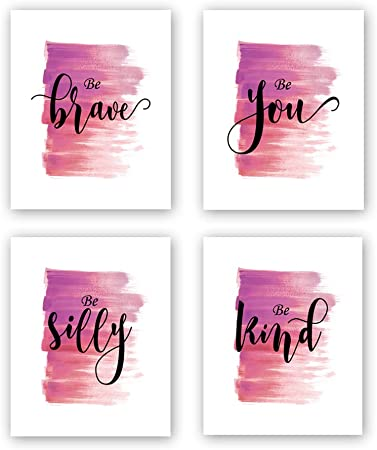 Modern Printing Inspirational Wall Art 8 X10 Inches Abstract Watercolor Art Print Set of 6 Motivational Wall Art Poster for Office and Classroom