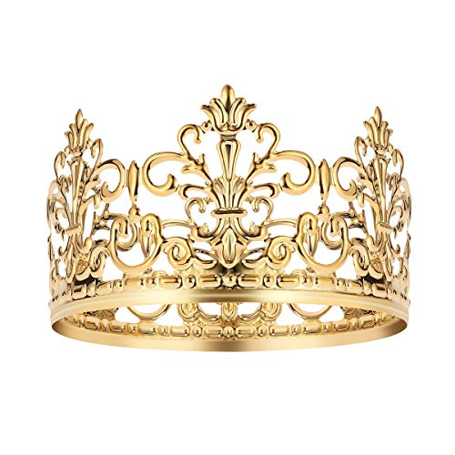 Vintage Gold Crown Cake Topper Queen Princess Cake Photo Party Baby Decor (Cake Topper Wedding Crown)