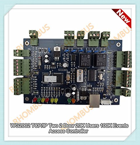 WG2002.NET TCP/IP Two 2 Door 20K Users 100K Events Blue Board 2-side Access Controller (valid for WG26 to WG34 RFID /Keypad reader,you can find software download link from the listing,can open/monitor the doors remotely from anywhere of the world;can open the door only by PIN;interlock;timing access)