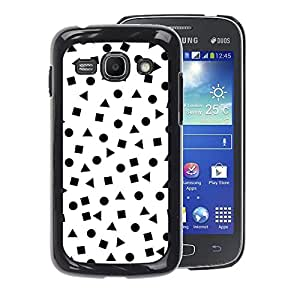 A-type Arte & diseño plástico duro Fundas Cover Cubre Hard Case Cover para Samsung Galaxy Ace 3 (White Shapes Pattern Math)