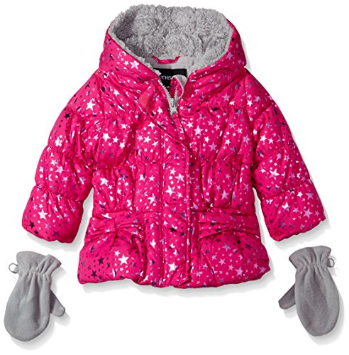 Rothschild Baby-Girls Star Foil Jacket, Ruby Light, 24 - Rothschild Coat Print
