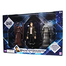 Doctor who 11th doctor and weeping angels collector figures set by BBC