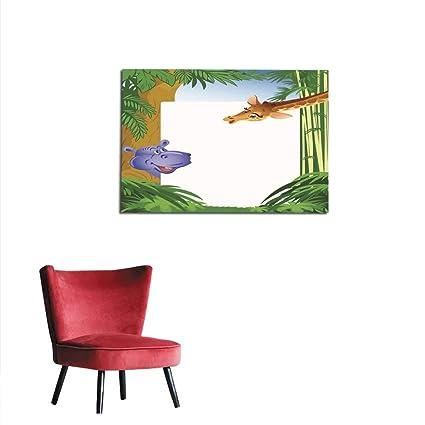 homehot Art Decor Calcomanías Hippo Cute Tarjeta de ...