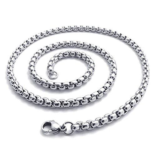 4 5mm KONOV Stainless Necklace Silver