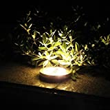 Waterproof Solar LED Ground Lamp,YiMiky Solar Spotlight Lamp Buried Light Under Ground Outdoor Square Path Way Garden Festival Party Decking Solar LED Outdoor Lighting Decorations(Warm White)