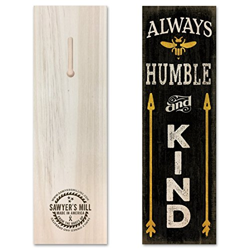 Always Be Humble & Kind - Handmade Wood Block Sign with Saying Inspired by Tim McGraw Features a Bumble Bee for Home Wall Decor. - Lodge Home Decor