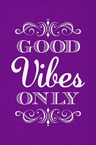 Good Vibes Only Motivational Inspirational Purple Poster