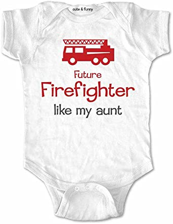 Baby Infant Toddler Bodysuits I Love My Firefighter Cotton Long Sleeve Jumpsuit