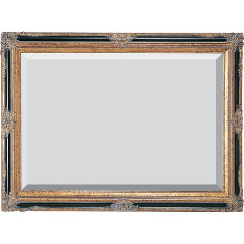 Timeless Reflections by AFD Home 10041463  Timeless Reflections Grand Victorian Mirror, Mini, Antique Gold/Black Finish (Mirror Victorian Wood)