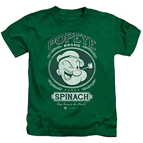 Popeye Fancy Spinach Little Boys Juvy Shirt (Kelly Green, 4) (Baby Popeye)
