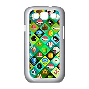 Super Mario Bros Samsung Galaxy S3 9300 Cell Phone Case White Exquisite gift (SA_447785)