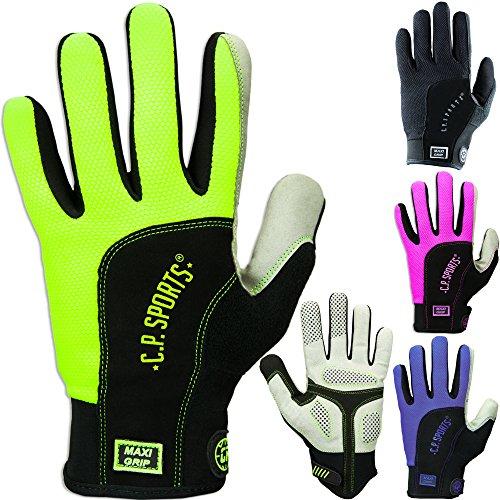 C.P. Sports hochwertiger Reithandschuhe, Nordic Walking Handschuhe, Karthandschuhe, Damen und Herren, Fitness Handschuhe Maxi - Grip, Vollfinger,