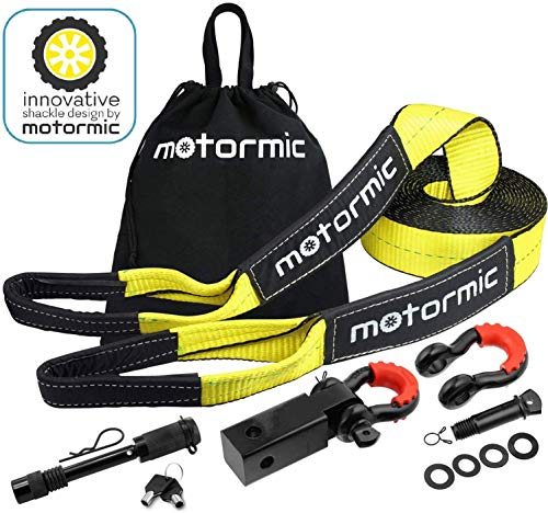 Motormic Tow Strap Recovery Kit – 30 ft x 3