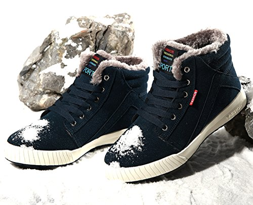 Snow Up Slip Sneaker Warm Outdoor Lace Winter Comfort Suede Men Ankle Top High Shoes Green Anti Boots Bootie rq1wnPrX