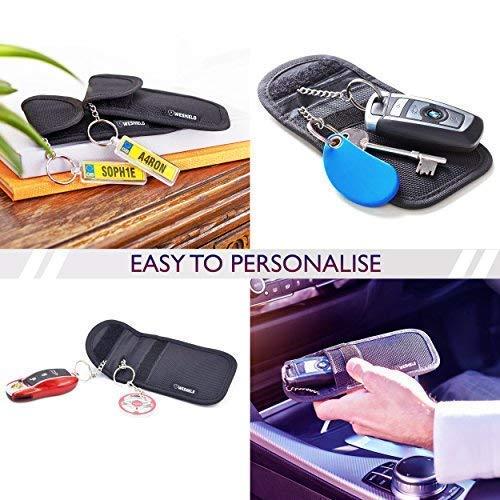 WeShield Keyless Faraday Tasche Anti Diebstahl RFID Signal Blocker Autoschl/üsselbeutel mit 4 Faraday F/ächer Premium Schl/üsselloser Zugang Fahrt Fortgeschrittenes Schl/üsselanh/änger-Schutzschild