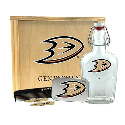 Glass Set Anaheim Ducks - Worthy Promo NHL Anaheim Ducks Gentlemen's Gift Box Toiletry Edition 1-250 ml Glass Swing-Top Bottle, 10