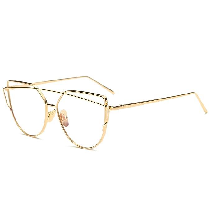 Gafas de sol Pro Acme con marco con diseño de gato, transparentes, de alta calidad, sin prescripción