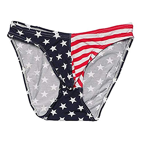 499cb8285f Ofocam Men s Briefs USA American Flag Underwear Bikini Swimsuit Beach Sport