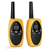 Walkie Talkies Two Way Radios, Handheld Talkies Talky Toys for Kids, 22 Channel 3KM(1.9MI) Quality Sound Interphone Long Range for Outdoor Camping Hiking, 2 Pack Yellow