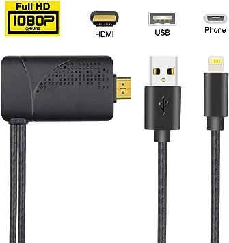 AMANKA Teléfono a HDMI Adaptador de Cable,Teléfono AV Digital a ...