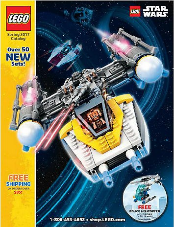 LEGO Spring 2017 CATALOG - Star Wars on Cover - SINGLE ISSUE MAGAZINE