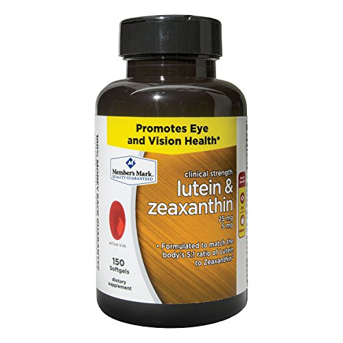 MM Lutein & Zeaxanthin 25MG,150 ct. (pack of 6) by Members Mark