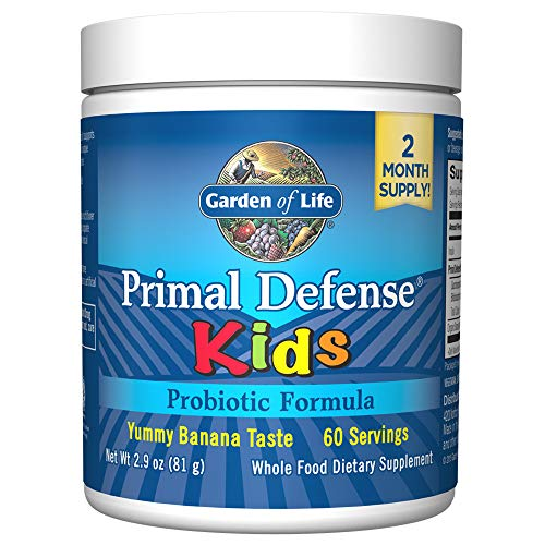 Garden of Life Whole Food Probiotic for Kids - Primal Defense HSO Probiotic Formula Kids Dietary Supplement, 2.9oz (81g) Vegetarian Powder