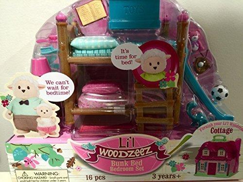 Li'l Woodzeez Bunk Bed Bedroom Furniture Set