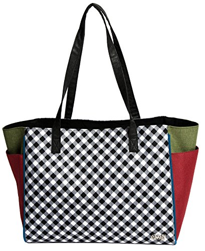 GloveIt Women's Tote Bag - Big Fashion Tote Bag for Women - Womens Large Tote Bags with Zipper Pocket & Shoulder Strap - Ladies Sport Totes, Work Tote, School Totebag - 2018 Checkmate